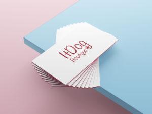 Diseño de tarjetas para ItDog Boutique