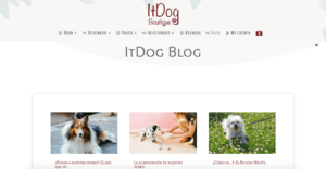 Diseño Blog ItDog Boutique